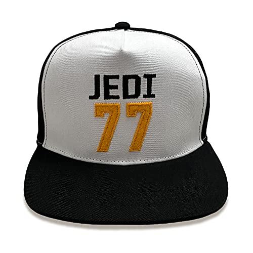 Gorra Snapback negra y blanca para hombre, Jedi 77, Star Wars, gorra con visera