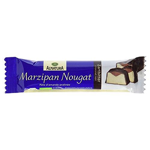 Alnatura Bio Marzipan-Nougat-Riegel, Zartbitter (1 x 40 g)