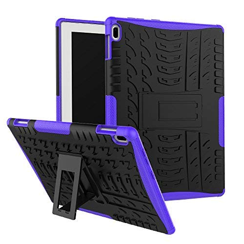 Maomi Lenovo Tab 4 10 Case (TB-X304F/N),[Kickstand Feature],Shock-Absorption/High Impact Resistant Heavy Duty Armor Defender Case for Lenovo Tab 4 10.1 inch 2017 Tablet X304F/N (Purple)
