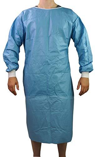 Sterile Unisex OP-Kittel von ATC Handel 1 Stück - Schutzanzug, Schutzkleidung, Isolationskittel, OP-Manteln Nono-Woven