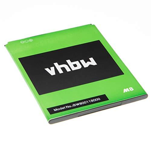 vhbw batteria compatibile con Leagoo M5 Max, M8, M8 Pro smartphone cellulare (2000mAh, 3,8V, Li-Ion)