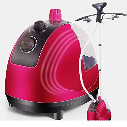 N\C Steam Presses Full Size Steamer for Clothes Garments Fabric - Professional Heavy Duty - 8 Steam Levels Producing Perfect Continuous Steam,Red ZZST