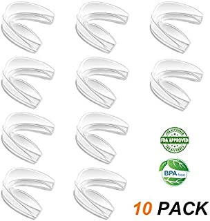 Coolrunner Mouth Guard Sports, 10 Pack Athletic Mouth Guards, Professional Moldable Youth Mouthguard for Maximum Protectio...