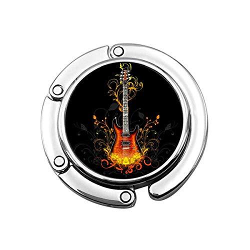 SHIZI Ro Gitarren Wallpaper Geldbörse Haken Folle Handtasche Kleiderbügel Klapphandtasche Tisch Kleiderbügel 1St