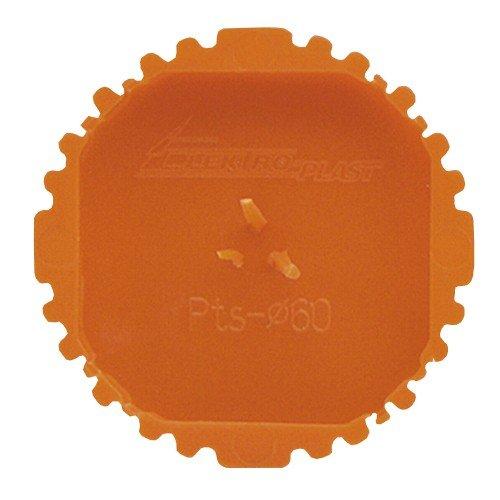 Reinigungsabdeckung, Signaldeckel, 60 mm, pts60, rot, Schachteln mit 50 Stück, 13.16 3647