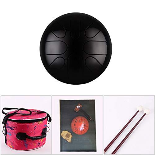 EXUVIATE Lotus Steel Tong Drum 8 Inch 8-Toon Percussie Instrument Hand Pan Drum Compacte grootte met Drum Mallets Draagtas Sanskriet trommel