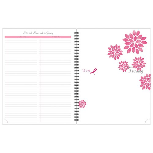 """Day-Timer Appointment Book / Planner Refill 2017, 2 Page Per Week, 8-1/2 x 11"""", Wirebound, Notebook size, Pink Ribbon (11241) Photo #4"""