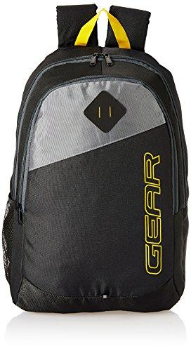 Gear 21 Ltrs Black Grey Casual Backpack (MDBKPECO50104)