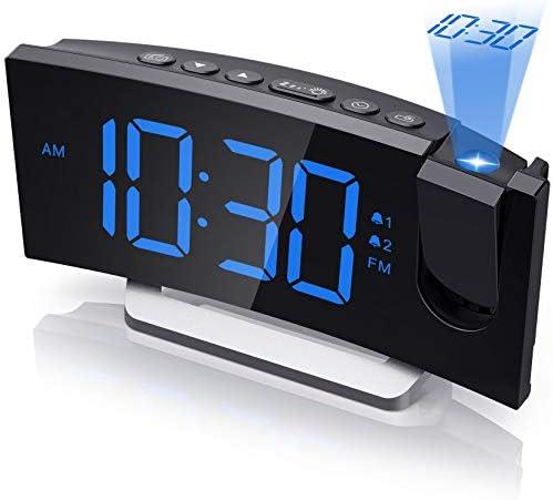 Mpow Projection Alarm Clock Radio Digital Clock with USB Charger 0 100 Full Range Brightness product image