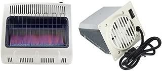 Mr. Heater, Corporation Mr. Heater, 30,000 BTU Vent Free Blue Flame Propane Heater, MHVFB30LPT & Mr. Heater F299201 Vent Free Blower Fan Accessory for 20K and 30K Units