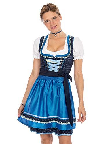 Stockerpoint Damen Patty Dirndl, Blau (Navy-Azur Navy-Azur), (Herstellergröße: 44)