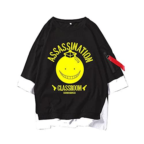MLX-BUMU Assassination Classroom Moda De Verano Estampado De Pintura Patrón Hombres Casual Fresco Manga Corta Camiseta Ropa,M