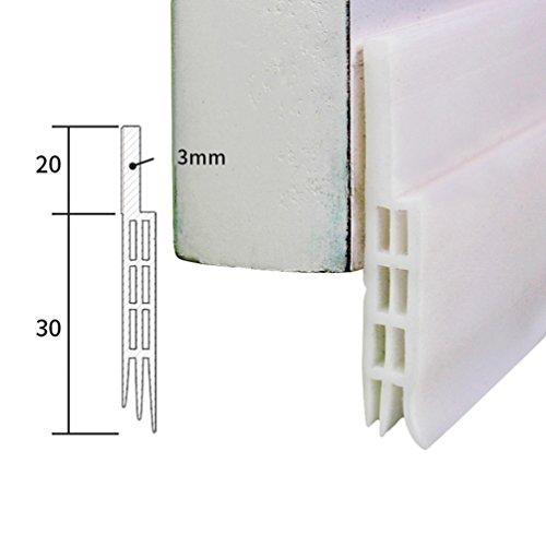Lvguang Selbstklebende Tür Türdichtung Dichtungsstreifen Schallschutz Ersatzdichtung Schalldichtung Weiß # 2 100 * 5 * 0.5 cm