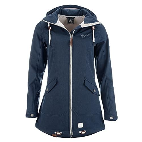 DryFashion Damen Softshell Mantel 'List', Größe:52, Farbe:navy