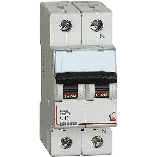 Btdin interruttore magnetotermico 1P+N curva C - 4,5kA