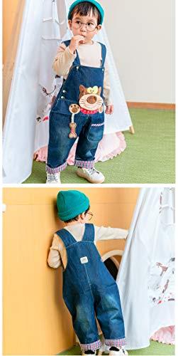 Baby Mädchen Denim Overall Jeans Hose mit Hosenträger Kinder Baumwolle Latzhose Kaninchen Butterfly – 100 - 7