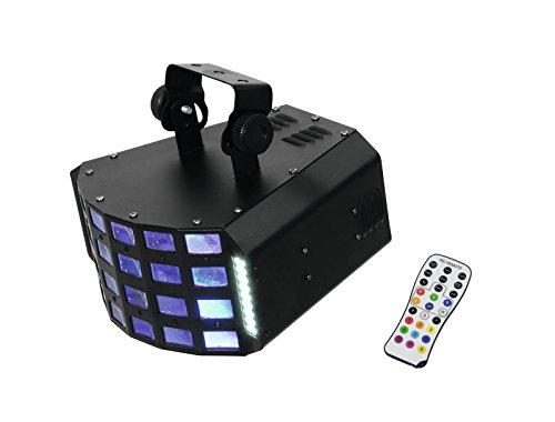 Eurolite LED D-30 Hybrid Strahleneffekt   Lichteffekt und Stroboskop in einem   DMX   Soundsteuerung   Effektlicht für Partyraum, Bühne, Bands, Clubs, Bars und Discotheken   Inklusive Fernbedienung