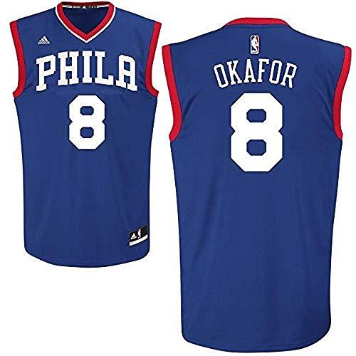 NBA Jahlil Okafor Philadelphia 76ers #8 Youth Road Jersey Blue (Youth Large 14/16)