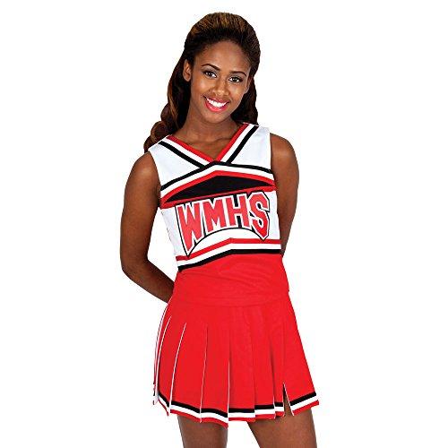 Cheerleader-Kostüm für Halloween, inspiriert von Glee - Rot - Erwachsene X-Large