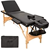 TecTake Table de massage 3 zones pliante cosmetique lit de massage...