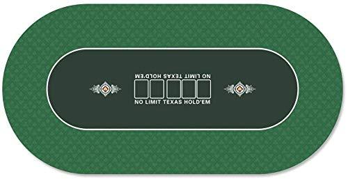 GAMELAND Pokermatte 180 x 90cm, mit Tragetasche, rutschfest, für bis zu 8 Personen (grün)