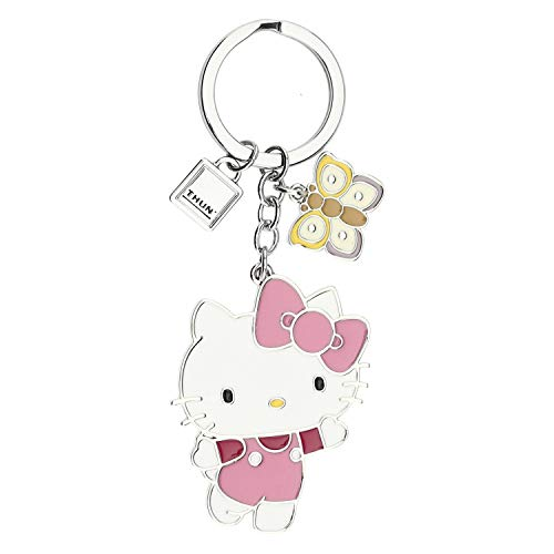 THUN ® - Portachiavi Hello Kitty 12,5x5x0,3 cm