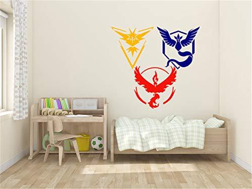 stickers muraux oiseaux 3d Pokemon Teams for living room bedroom