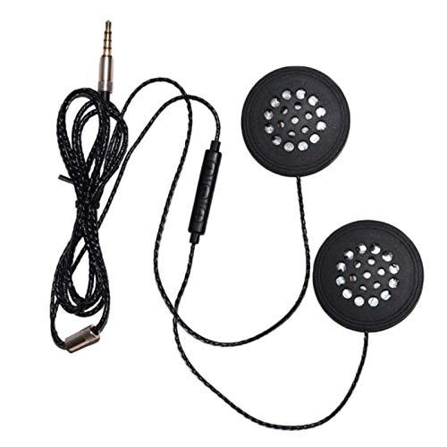 Mogzank Auriculares para Casco de Motocicleta, Auriculares con Cable de 3,5 Mm,...