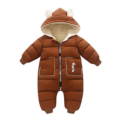 Best Buy! BPOF99 Baby Girl Jacket Children Cartoon Hooded Romper Winter Thermal Skin Friendly Infant Jacket for Outdoor