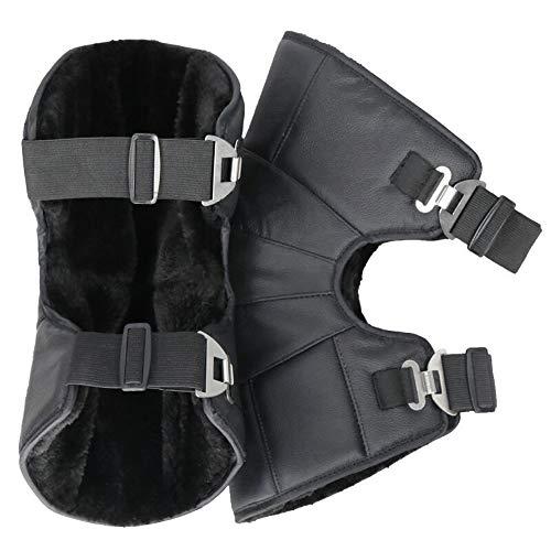 NBWS Rodilleras térmicas de piel fría y resistente al viento, tacón corto, para montar al aire libre