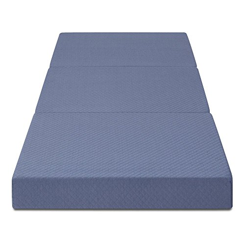 Olee Sleep 4 inch Tri-Folding Memory Foam Mattress