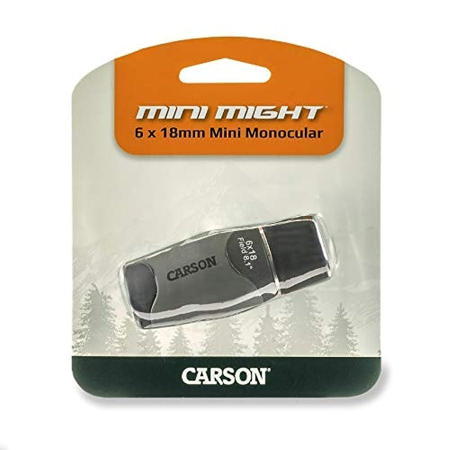 有益なチキンほんのCarson MiniMight 6x18mm Pocket Monocular with Carabiner Clip (MM-618) [並行輸入品]
