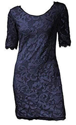 Kleid Spitzenkleid von Patrizia Dini - Marine Blau Gr. 42