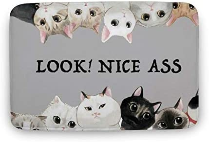 Bathroom Rugs Soft Water Absorbent Non Slip Carpet 20 32 Nice Ass Gift for Cat Lover Bathtub product image