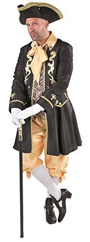 M215261-L-A schwarz-gold Herren Rokoko Barock Kostüm Lord Graf Marquis Gr.L