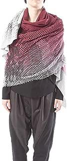 ミハイル ギニス アオヤマ MICHAIL GKINIS AOYAMA 着る ART ストール [登録意匠] 日本製 ハイテク ニット MADE IN TOKYO ギリシャ 大判 ウール Wool Gradient バーガンディ グラデーション burgundy