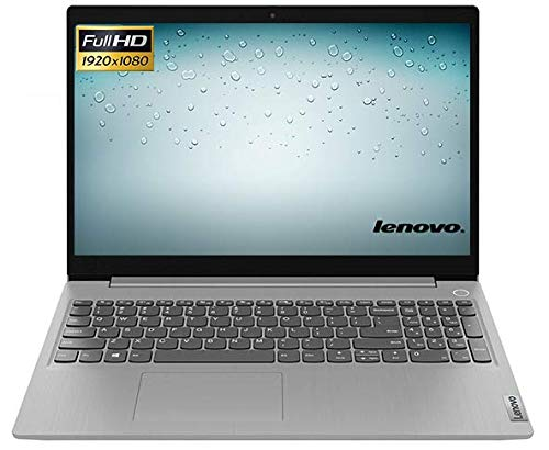 "Portatile Lenovo IdeaPad 3 cpu i5 10th gen 4 Core 1,6 GHz, Notebook 15"" Display FHD 1.920x1.080 Pixels, DDR4 8 GB, SSD M.2, Wi-fi, Bt, Win 10, A/V, Platino (i5 256GB / 39.6 cm (15.6""))"