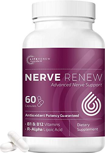 Life Renew: Nerve Renew Advanced Nerve Support - Alternative Nerve Pain Relief with Alpha Lipoic Acid and Vitamin B Complex - 60 Capsules - Antioxidants