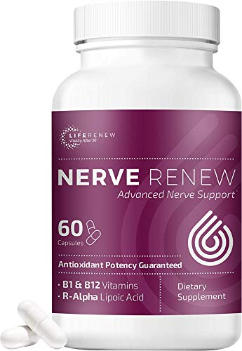 Nerve Renew Advanced Nerve Support - Natural Nerve Pain Relief Support with R-Alpha Lipoic Acid and Vitamin B Complex - 60 Capsules - Antioxidant Potency, Fast-Acting Formula