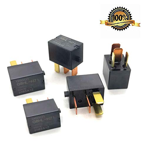 5 Pack AC Relay G8HL-H71 Power Relay Assembly for 2003-2014 Accord 2006-2014 Civic 2007-2014 Acura MDX CR-V