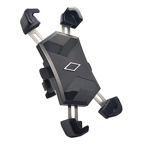 DHYED Soporte de teléfono móvil para bicicleta, soporte para teléfono móvil, soporte para bicicleta de montaña, soporte para navegación, color negro