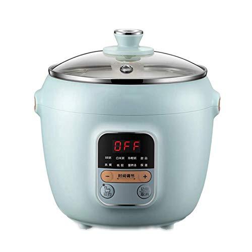 Yiyu Elektrische Dünsten Topf Automatische Keramik Haushalt Slow Cooker Porridge-Hersteller 1L Multi Cooker j (Color : Blue)