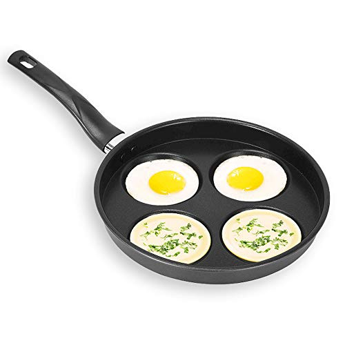 PINZHENG Frying Pans Nonstick 4 Holes Omelette Pan No Oily Smoke And Non-Stick Frying Pan Shaped Non-Slip Pot Bottom Heat Insulation And Anti-Scald Handle Kitchen Cookware Non-Stick Skillet