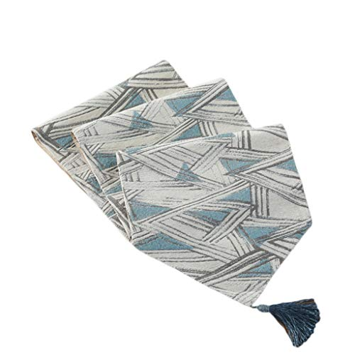 Mantel de mesa con diseño de bandera de mesa moderno minimalista, estilo mediterráneo, toalla de cola de cama, toalla de cola, té, café, 32 x 160 cm MXJ61 (tamaño: 32 x 180 cm)