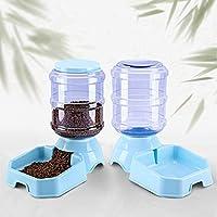 自動ペットフィーダー、食品ディスペンサー、ペット猫犬の自動給水器や食品フィーダー3.8 L (Color : Blue)