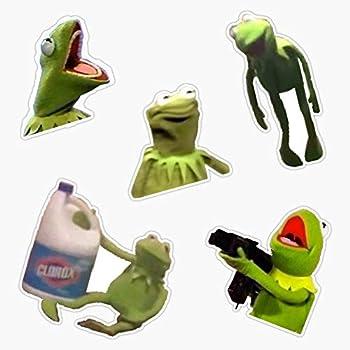 LAD Studio Wacky Kermit Meme Pack Sticker Vinyl Bumper Sticker Decal Waterproof 5