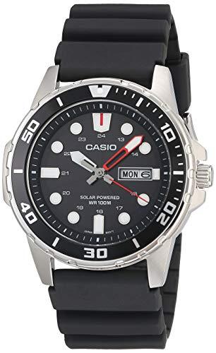 Casio Men's Stainless Steel Quartz Resin Strap, Black, 22 Casual Watch (Model: MTP-S110-1AVCF)