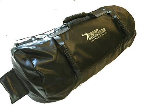 Ultimate Sandbag Training- Burly Package- Adjustable Fitness Sandbag 60-120 pounds Heavy Duty Workout Sandbag for Exercise and Crossfit (Black)
