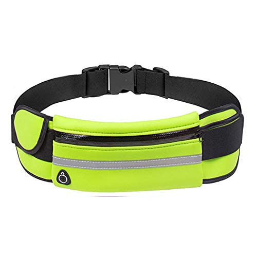 Bolsas de cintura unisex Bolsa de cintura para mujer Bolsas de correr deportivas para mujeres 2021 Bolsa de teléfono de ciclismo Titular impermeable Hombres Jogging Belt Pack ( Color : Green Color )