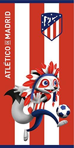 Atlético de Madrid. Toalla de Terciopelo Oficial del Club. 152x76cm. Indi 03